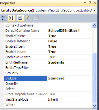 Databinding with ASP.Net using Entity Framework