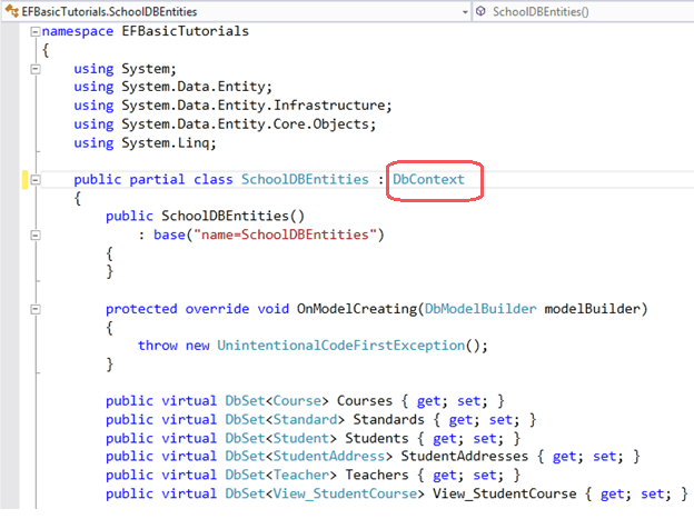 Create Entity Data Model in Entity Framework